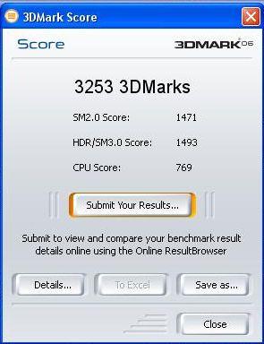 3D Mark Resultados
